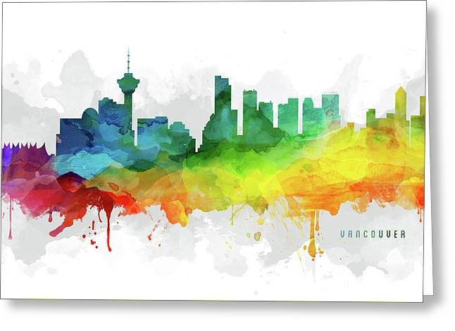 Vancouver Skyline Mmr-cabcva05 Greeting Card