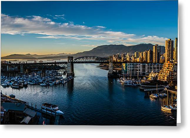 Vancouver Sunset Greeting Card by Ian Stotesbury