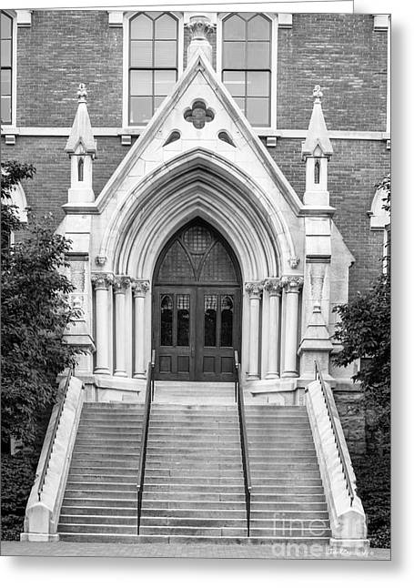Vanderbilt University Kirkland Hall Entrance Greeting Card by University Icons