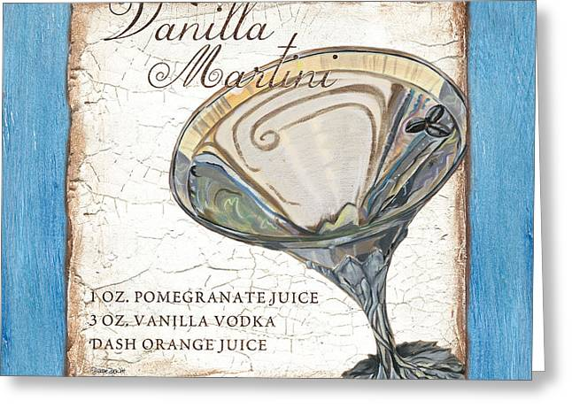 Vanilla Martini Greeting Card by Debbie DeWitt
