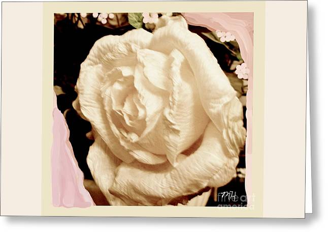 Vanilla Rose Greeting Card