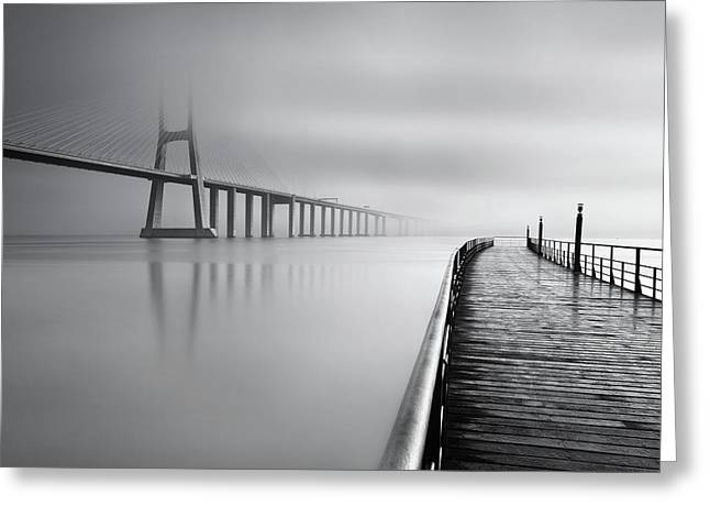 Greeting Card featuring the photograph Vanishing by Jorge Maia