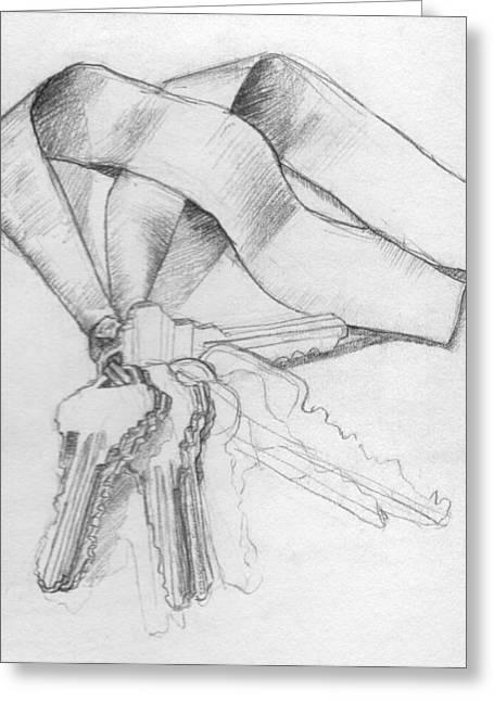 Vanishing Keys Drawing by Sabrina Khan