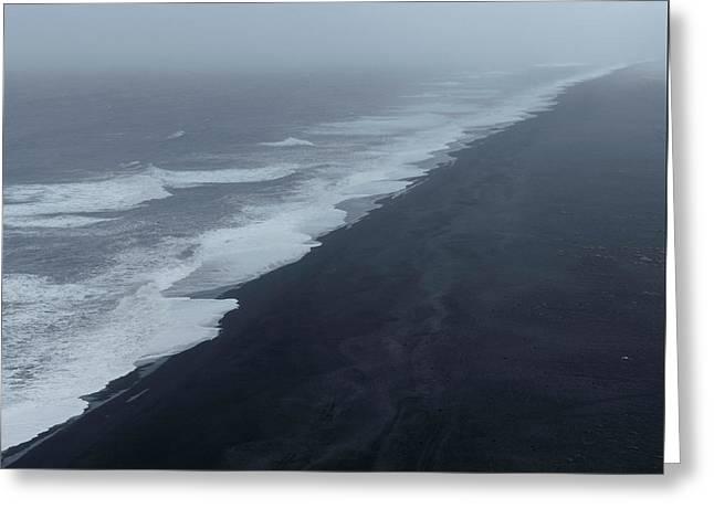 Vanishing Point - Dyrholaey, Iceland Greeting Card
