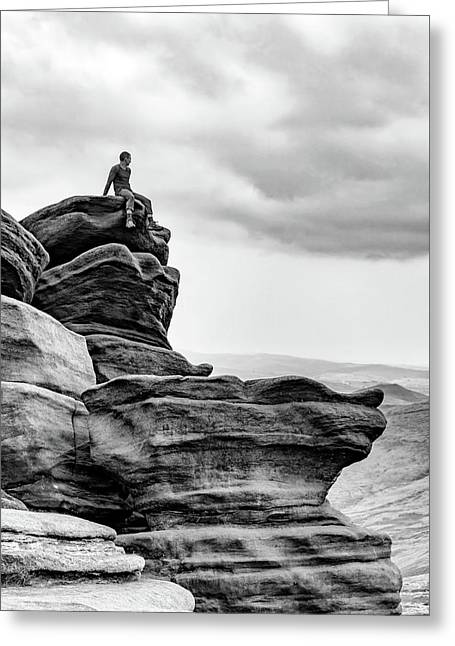Greeting Card featuring the photograph Vantage Point by Nick Bywater