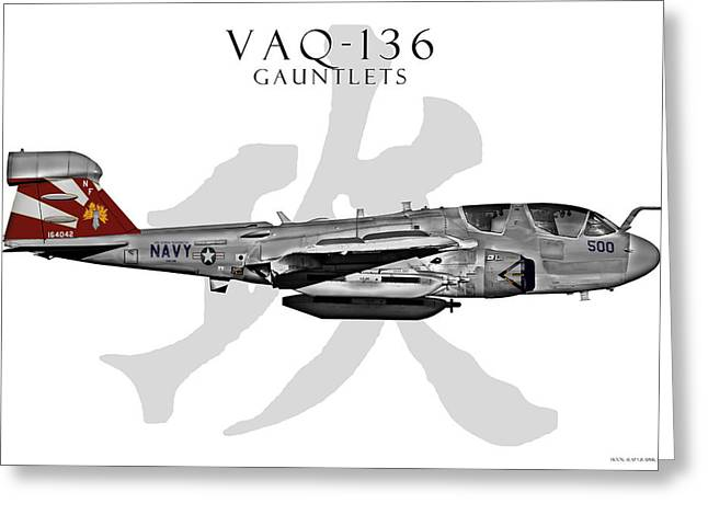 Vaq-136 Prowler Greeting Card by Clay Greunke