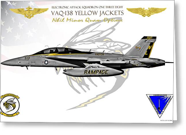Vaq-138 Growler Greeting Card by Clay Greunke