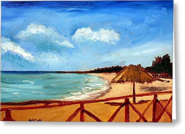 Varadero Beach  Greeting Card by Maria Soto Robbins