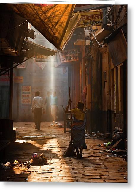 Varanasi Morning Greeting Card