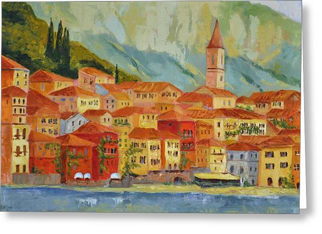 Varenna  Italy Greeting Card by Ginger Concepcion