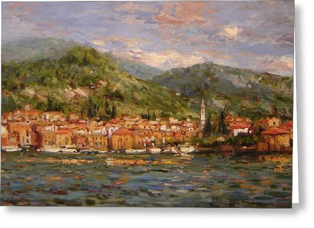 Varenna Italy Greeting Card by R W Goetting