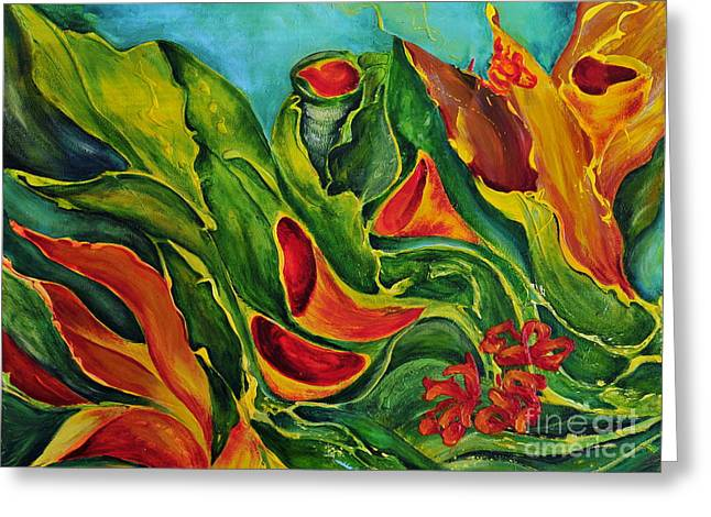 Greeting Card featuring the painting Variation by Teresa Wegrzyn