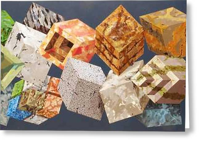 Variations In Stone Greeting Card by M Jaquis