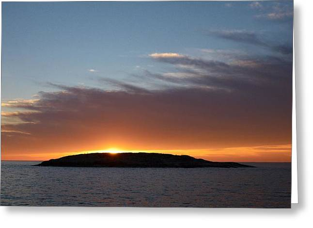 Greeting Card featuring the photograph Variations Of Sunsets At Gulf Of Bothnia 1 by Jouko Lehto