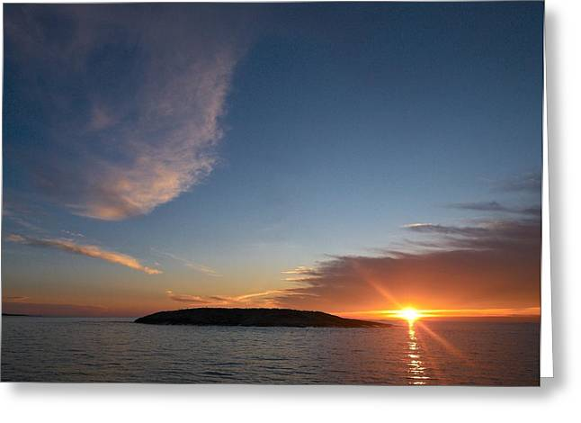 Greeting Card featuring the photograph Variations Of Sunsets At Gulf Of Bothnia 2 by Jouko Lehto