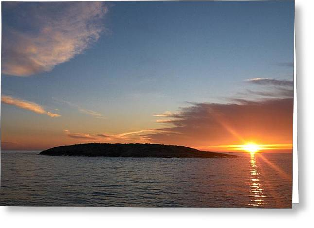 Greeting Card featuring the photograph Variations Of Sunsets At Gulf Of Bothnia 3 by Jouko Lehto