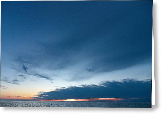 Greeting Card featuring the photograph Variations Of Sunsets At Gulf Of Bothnia 4 by Jouko Lehto