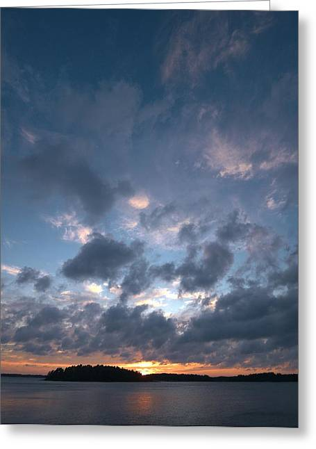 Greeting Card featuring the photograph Variations Of Sunsets At Gulf Of Bothnia 5 by Jouko Lehto