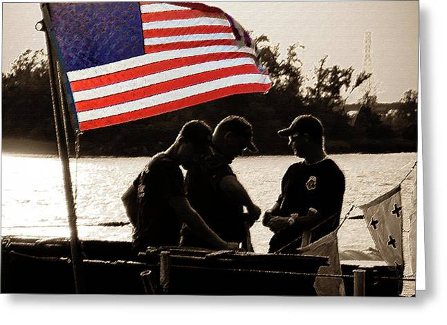 Variations On Old Glory No.3 Greeting Card by John Pagliuca