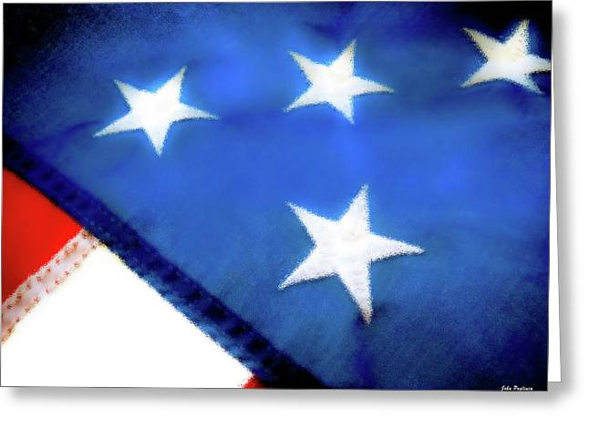 Variations On Old Glory No.6 Greeting Card by John Pagliuca