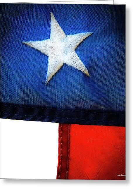 Variations On Old Glory No.7 Greeting Card by John Pagliuca