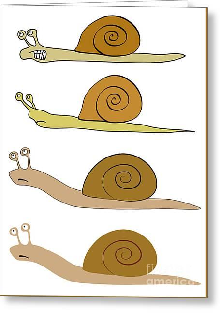 Various Snails Greeting Card