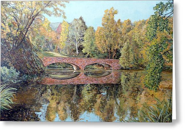 Varsity Lake Bridge Cu Boulder  Greeting Card by Tom Roderick