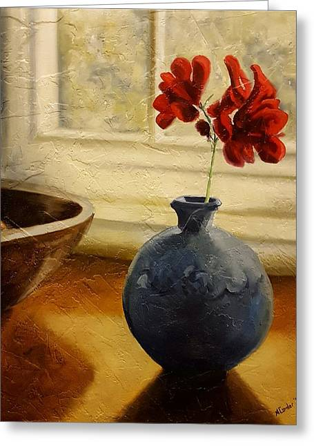 Vase And Bowl Greeting Card