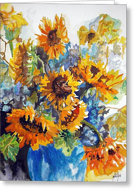 Vase Full Of Sunshine Greeting Card by Jim Phillips