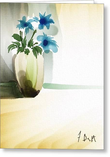 Vase In Light Greeting Card