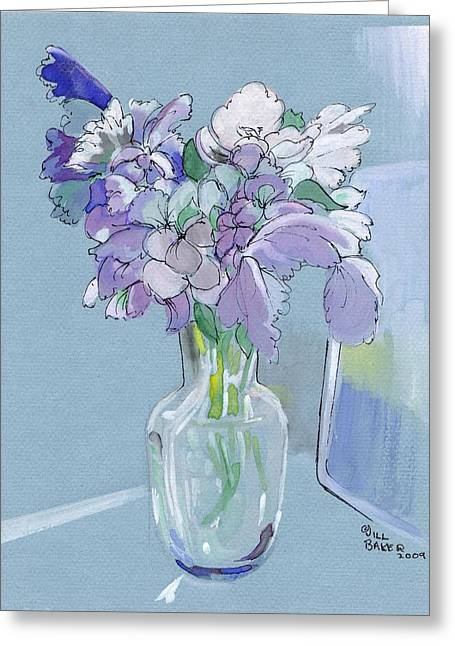 Vase Of Flowers In The Sun Greeting Card by Jill Baker