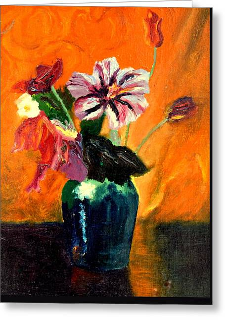 Vase With Flowers Greeting Card by Henryk Gorecki