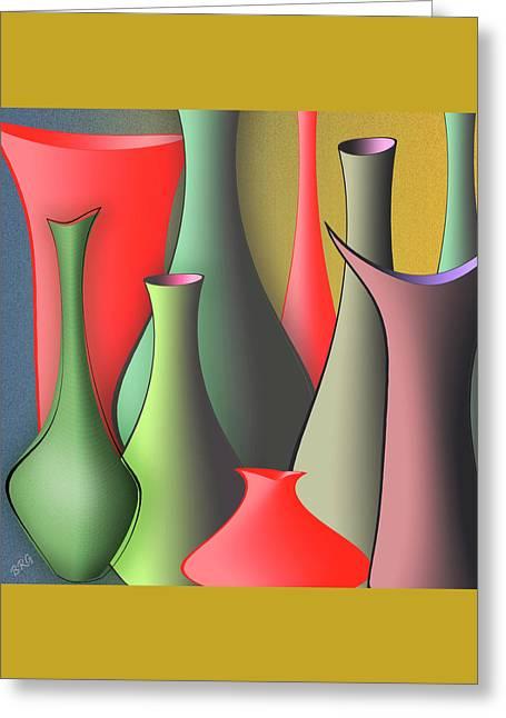 Vases Still Life Greeting Card