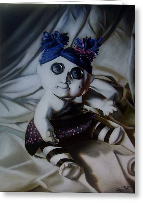 Vashler Baby Doll Greeting Card by Lori Keilwitz