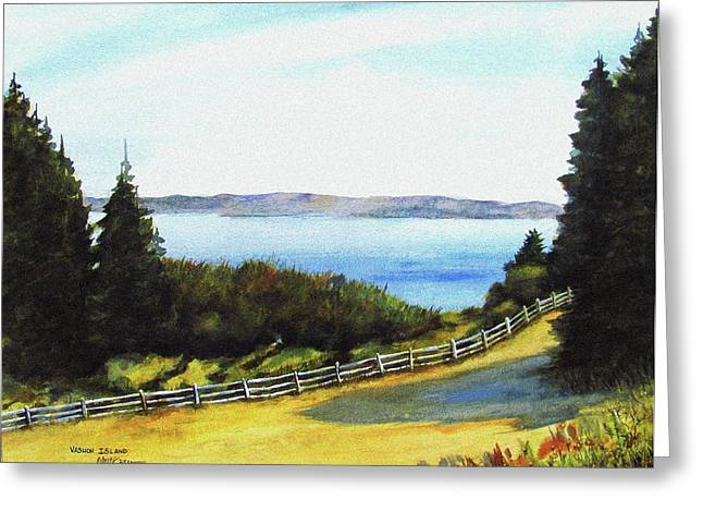 Greeting Card featuring the painting Vashon Island by Marti Green