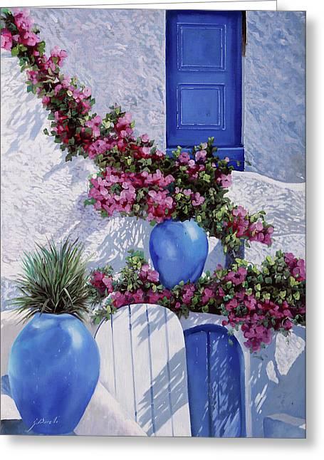 Vasi Blu Greeting Card