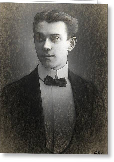Vaslav Nijinsky Sketch Greeting Card