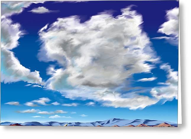 Vasquez Cloud Greeting Card by Steve Beaumont