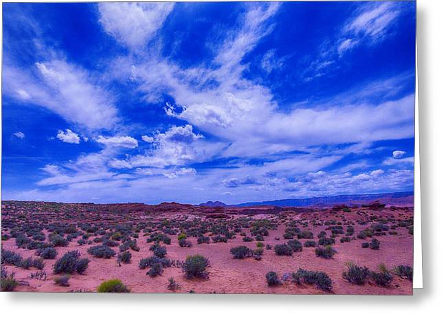 Vast Desert Sky Greeting Card by Garry Gay