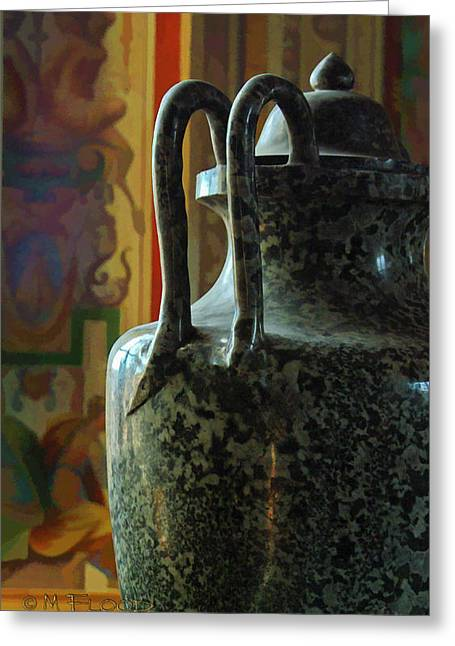 Greeting Card featuring the photograph Vatican Ancient Jar by Michael Flood
