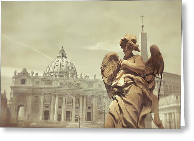 Vatican Angel Greeting Card by JAMART Photography