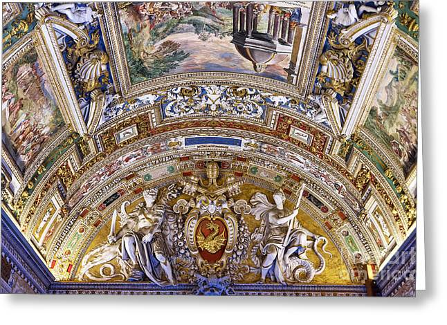 Vatican Ceiling Fresco Greeting Card