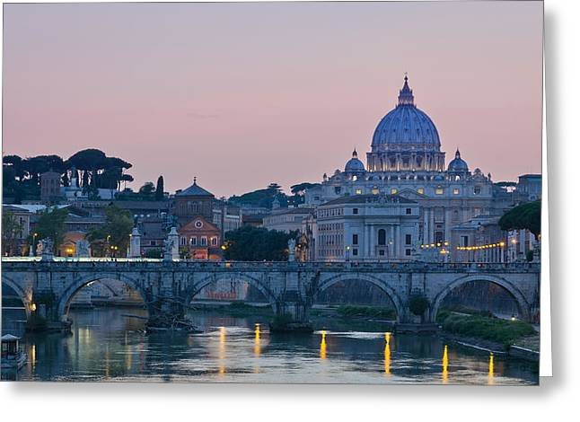 Vatican City At Sunset Greeting Card