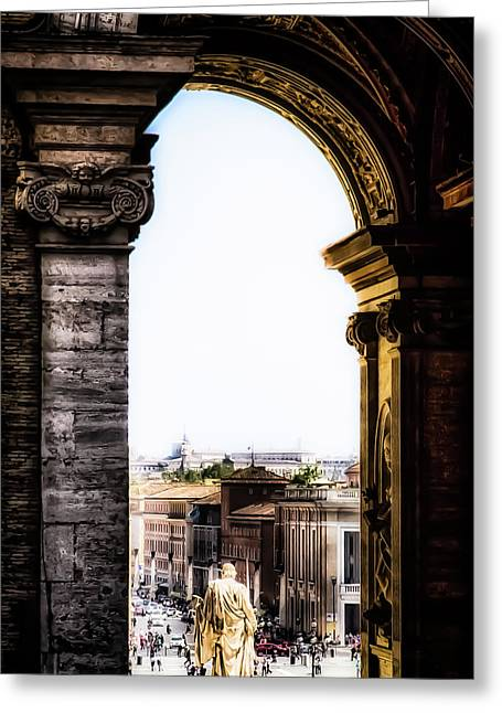 Vatican City - The Arch View Greeting Card