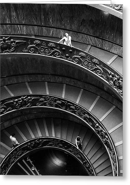 Vatican Stairs Greeting Card