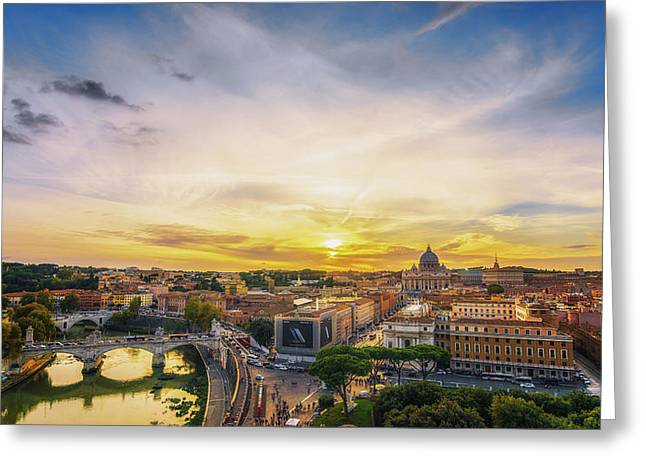Greeting Card featuring the photograph Vatican Sunset by James Billings