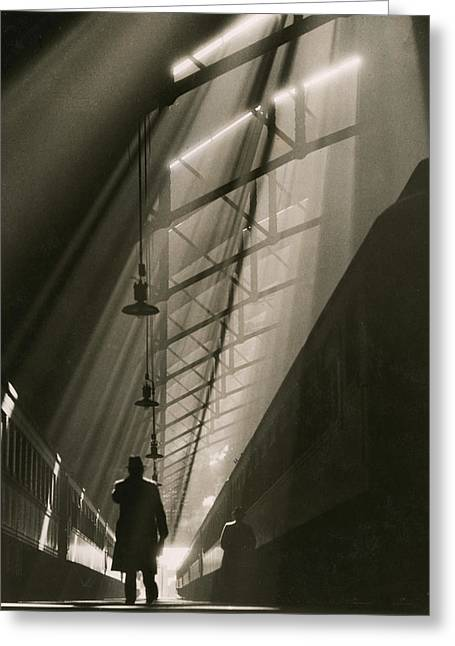 Vaulted Ceiling Of The Historic La Greeting Card by William M. Rittase