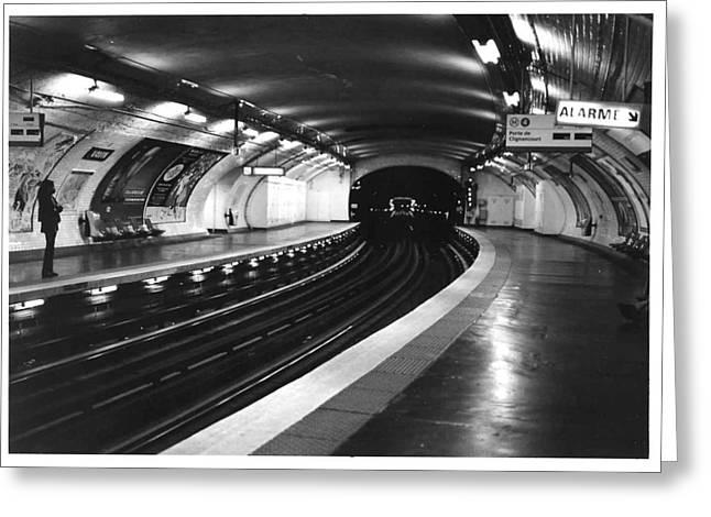 Vavin Station Paris Metro Greeting Card by Gordon Lukesh