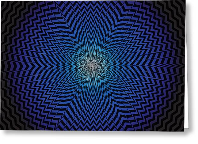 Vector Optical Illusion  Greeting Card