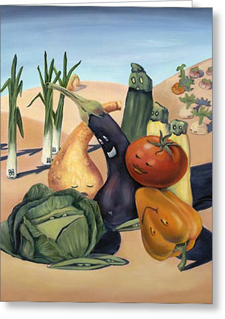 Veg Out Greeting Card by Sandi Snead